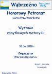 Honorowy Patronat Burmistrza - Wystawa zabytkowych motocykli - 10.06.2018r.