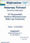 HonorowyPatronat -IV Wojewódzki Konkurs Matematyczny.Mała Liga Zadaniowa