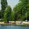 Budowa pomostu nad Jeziorem Zamkowym