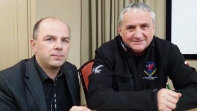 Wojciech Trzciński z Romualdem Koperskim