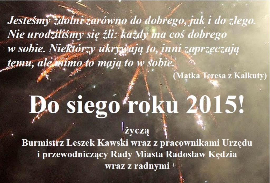 Życzenia na 2015 rok