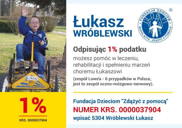 1 procent dla Łukasza