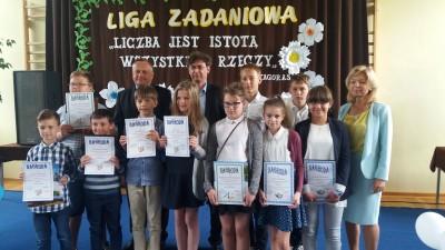 Matematycy z SP 3 - podumowanie konkursów matematycznych w Jarantowicach