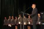 Święto Policji - obchody 12 lipca 2017 r. Przemawia starosta wąbrzeski Krzysztof Maćkiewicz (2)