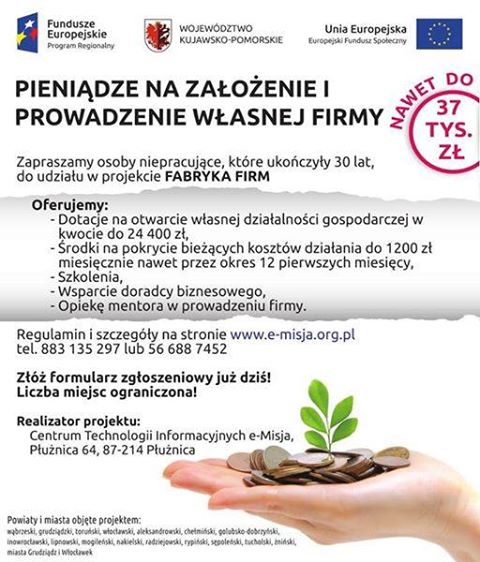 Fabryka Firm - dotacje na założenie firmy