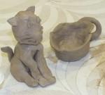 Uczyły się lepienia w glinie - warsztaty ceramiczne - lipiec 2017 r (4)
