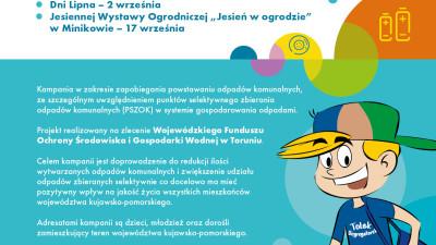 PSZOK zaproszenie na akcje promocyjne plakat