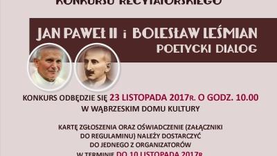 Poetycki dialog - Jan Jaweł II i Leśmian - zaproszenie do udziału w konursie recytatorskim