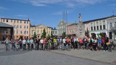Uczestnicy rajdu ropwerowego - Wąbrzeski Festiwal Turystyczny - 16 września 2017 r.