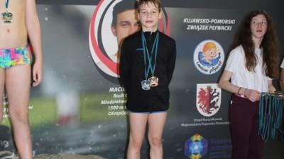 Pływacy z Wąbrzeźna zdobyli 4 medale na Indywidualnych Mistrzostwach Województwa Kujawsko - Pomorskiego w Rypinie (27.01.2018)