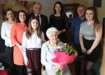 Burmistrz złożył życzenia najstarszej wąbrzeźniance. Władysława Bugała 11 marca 2018 roku obchodziła 102 urodziny3