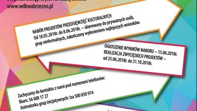 Konkurs inicjatyw lokalnych Kulturalna Bomboniera w Wąbrzeźnie