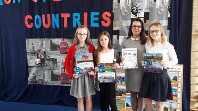 Uczennice SP 2 zdobyły 3. miejsce w konkursie wiedzy o krajach anglojęzycznych