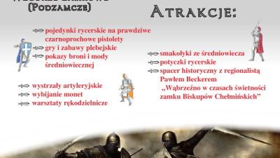 Festyn rycerski - 10 sierpnia 2018 r. Góra Zamkowa w Wąbrzeźnie