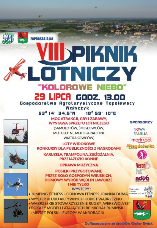Piknik Lotniczy Kolorowe Niebo - 29 lipca 2018 r. Wałyczyk