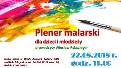 22 sierpnia w Wąbrzeźnie odbędzie się plener malarski. Jego organizatorem jest WDK