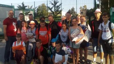 W dniach 16 – 20 sierpnia 2018 r. szesnastoosobowa grupa karateków z Wąbrzeskiego Klubu Sportów i Sztuk Walki przebywała w partnerskim mieście - Syke (2)