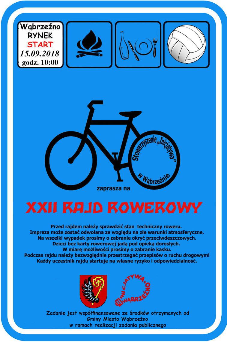 XXII Rajd rowerowy - wrzesien 2018