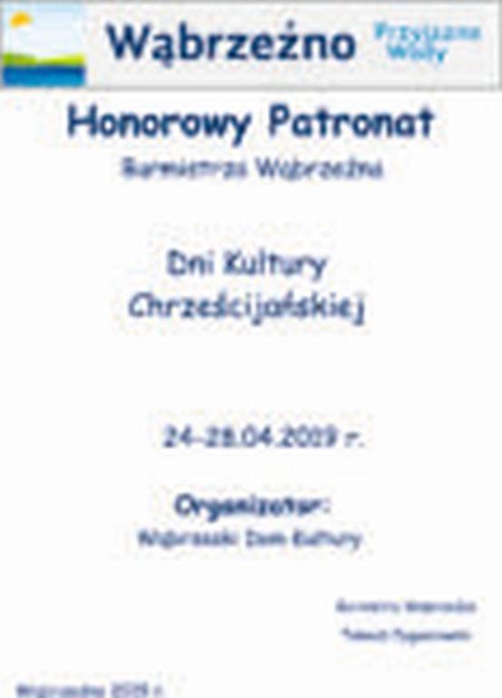 HonorowyPatronat BUrmistrza - Dni Kultury Chrześcijańskiej