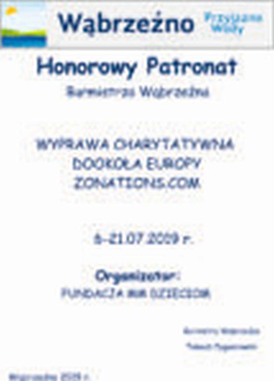 HonorowyPatronat - Wyprawa charytatywna dookoła Europy