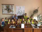 Wąbrzeźno.Dzieci z oddziałów przedszkolnych SP3 z wizytą w Urzędzie Miasta.9.08.2019r.1a (3)