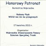 Honorowy Patronat Burmistrza Wąbrzeźna