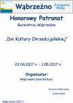 Dni Kultury Chrześcijańskiej - honorowy patronat Burmistrza Wąbrzeźna