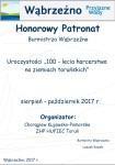Honorowy patronat Burmistrza Wąbrzeźna - 100 lat harcerstwa na ziemiach toruńskich