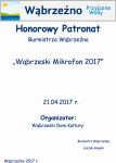 Wąbrzeski Mikrofon 2017 - patronat Burmistrza