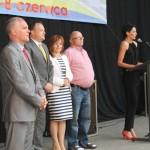 Statuetki  2014 (burmistrz Leszek Kawski i Kapituła konursu- Wojciech Bereza, Mariola Frankowska, Edward wierak i Edyta Brzoskowska)