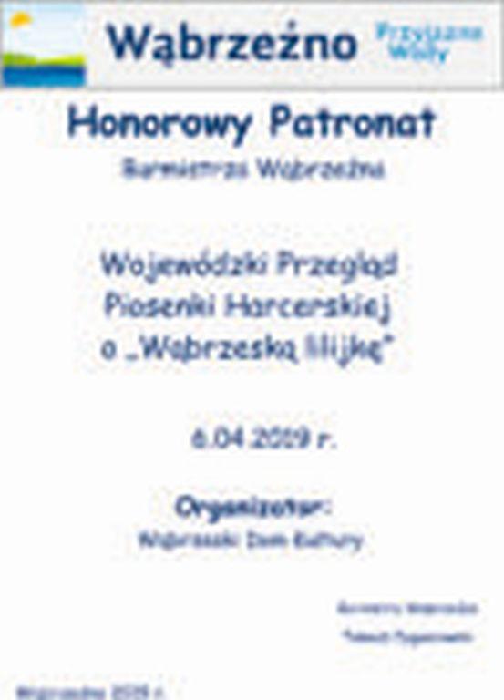 HonorowyPatronat - Wąbrzeska lilijka - 6.04.2019r.