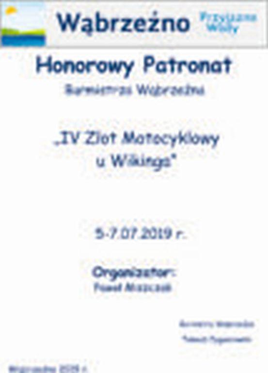 Zlot u Wikinga - HonorowyPatronat Burmistrza