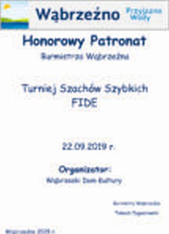 Turniej szachów - FIDE - Honorowy Patronat