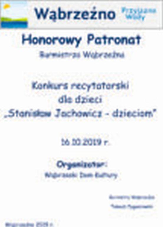 PatrontBurmistrza Konkurs recytatorski dla dzieci - 16.10.2019r.